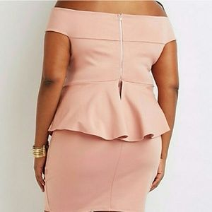 Charlotte Russe Dresses - New Plus Size Off Shoulder Peplum Dress